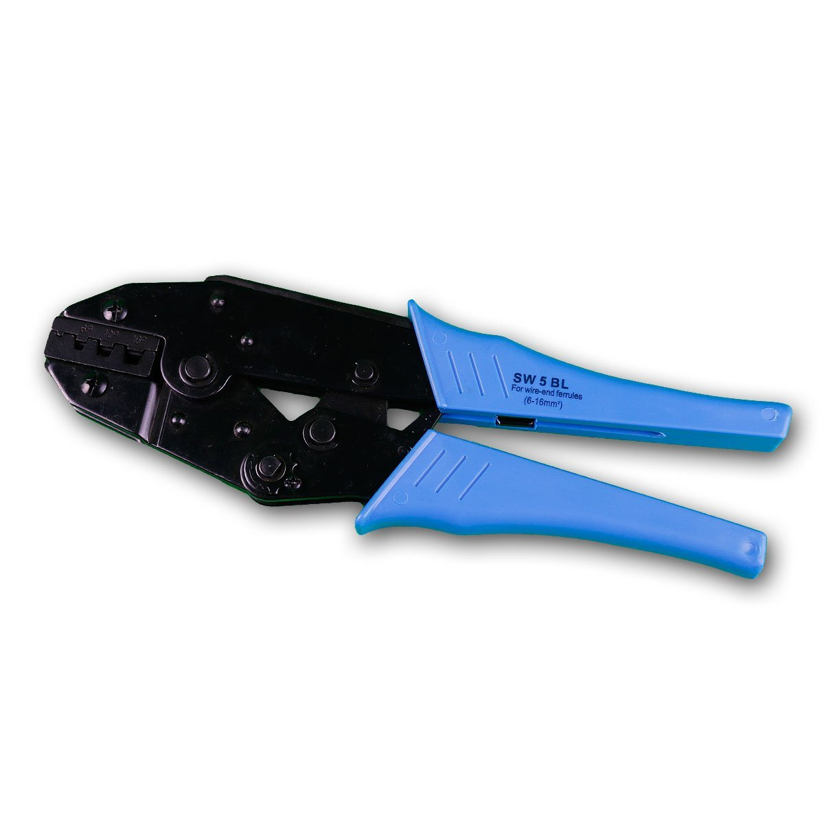 Pince à sertir pour embouts et Cosses 6-16mm avec fonction de cliquet Transmedia SW5BL