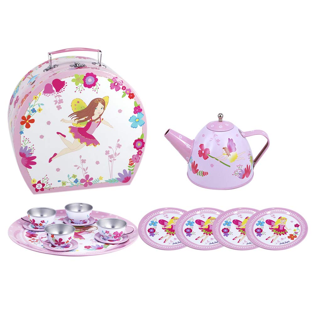 My Fairytaleフローラル15 Piece Tin Children 's Teaセット   B07C9MBGN7