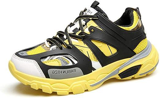 MMJ Zapatillas de Hombre, Primavera nuevos Hombres Casual Athletic Zapatos luz Suelas bajo-Top Zapatillas de Running Transpirable Cordones para Caminar,b,39: Amazon.es: Jardín