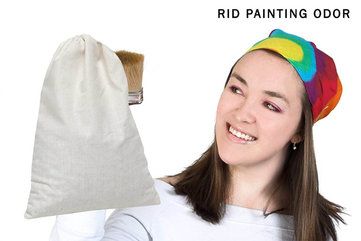 SMELLEZE Reusable Paint Smell Removal Deodorizer Pouch: Rid Painting Fumes Without Chemicals in 300 Sq. Ft. by SMELLEZE (Image #3)
