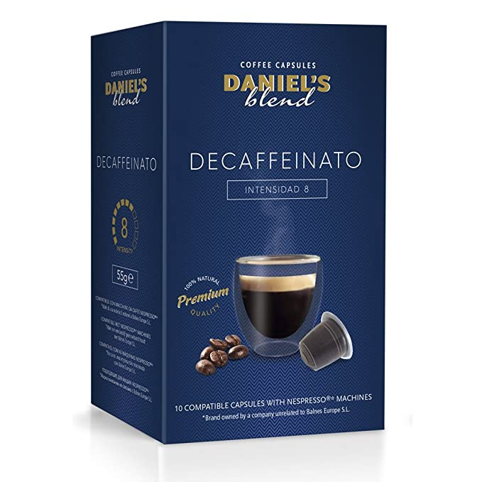 DANIELS BLEND - 100 Cápsulas de Café Compatibles con Máquinas Nespresso - DECAFFEINATO: Amazon.es: Alimentación y bebidas