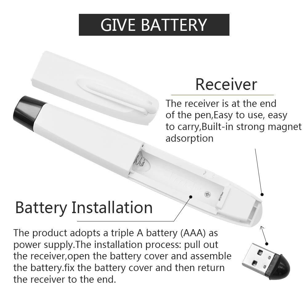 Wireless Presenter Laser Pointer Red Remote Presentation PowerPoint PPT Click USB Presenter Control White