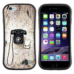 "Pulsar iFace Series Tpu silicona Carcasa Funda Case para Apple (4.7 inches!!!) iPhone 6 Plus / 6S Plus ( 5.5 ) , Viejo Rotary Vintage Vignette Teléfono con cable"""