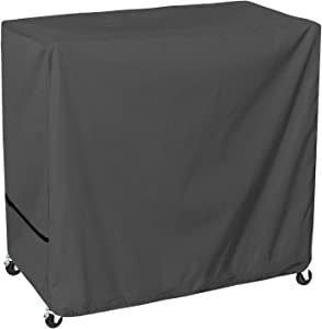STARTWO Waterproof 80 Qt Rolling Cooler Cover, Heavy Duty Cooler Covers Outdoor with Secure Velcro, Fits Most Patio Cooler Cart, Beverage Cart, Ice Chest Party Cooler, 34L x 19W x 31H inch Gray