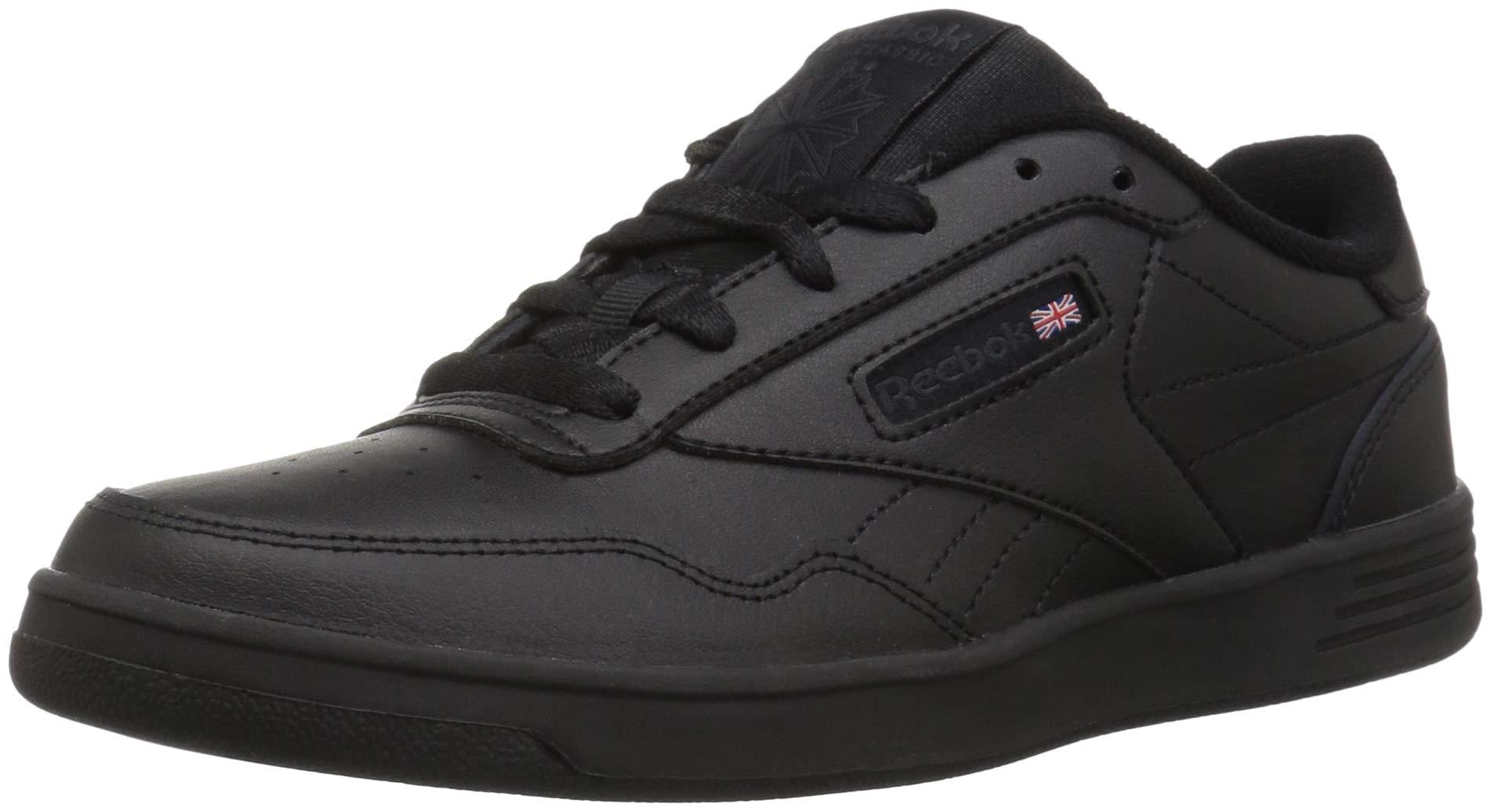 Reebok Men's Club MEMT Sneaker, Black/Dark Heather Grey/Solid Grey Wide, 6.5