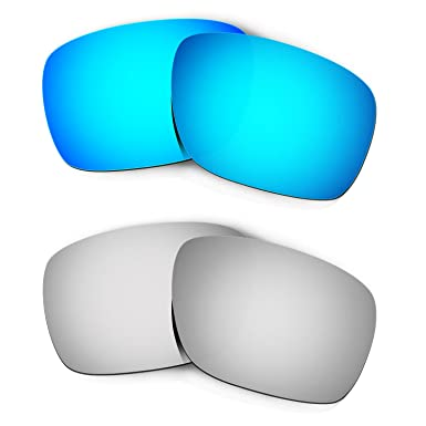 f342a59f48 Image Unavailable. Image not available for. Color  Hkuco Mens Replacement  Lenses For Oakley Turbine Blue Titanium Sunglasses