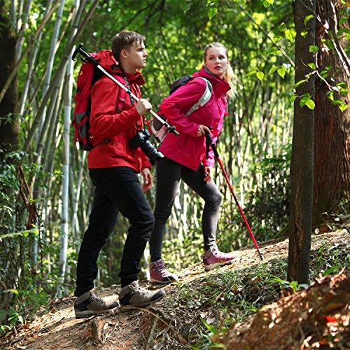 Clorts Womens Escursionista In Pelle Impermeabile Da Trekking Avvio Outdoor Zaino Da Trekking Hkm822 Viola