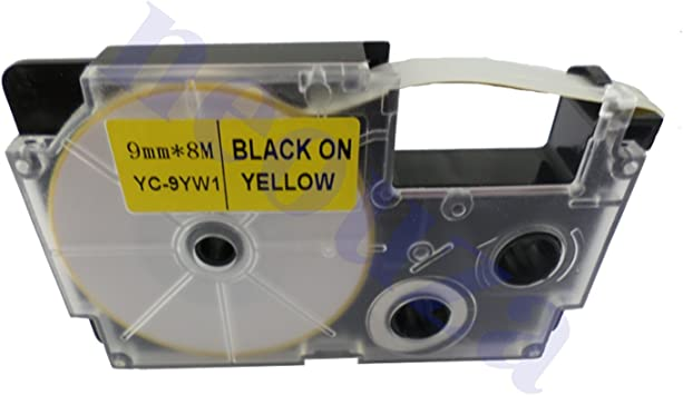 Great quality Compatible for Casio Tape 9mm BLACK on Clear Label  XR-9X1