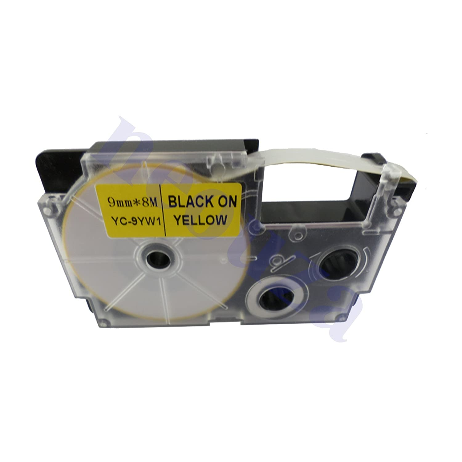Great quality Compatible for Casio Tape 9mm BLACK on Yellow Label XR-9YW1 DUOVEC
