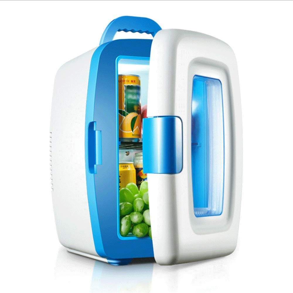HKJhk Car Dual-use Car Refrigerator Mini Refrigerator Dormitory Mini Box Drug Cosmetics Refrigerator (Color : White)