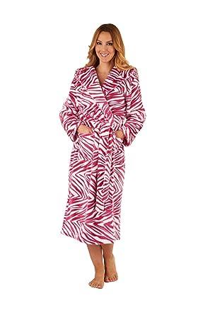 i-Smalls Damen Zebra Fleece Robe (S) Rosa