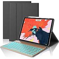 D DINGRICH ipad pro 11 Tastatur Hülle, ipad pro 11 case mit 7 Farben Hinterleuchtet Wireless Bluetooth Tastatur (QWERTZ), Magnetischen Schlaf/Wach für iPad pro 11 Zoll
