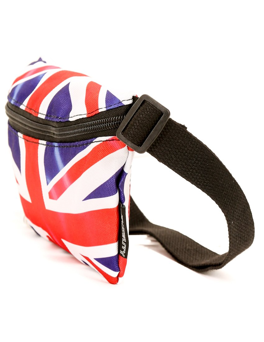 FYDELITY- Ultra-Slim Fanny Pack: FLAGS UK | Travel, National, World Cup, Team, Country