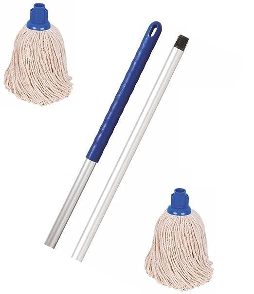 2 opinioni per Mop Kit Professionale manico e 2straccio, con DCS panno colorati Blue