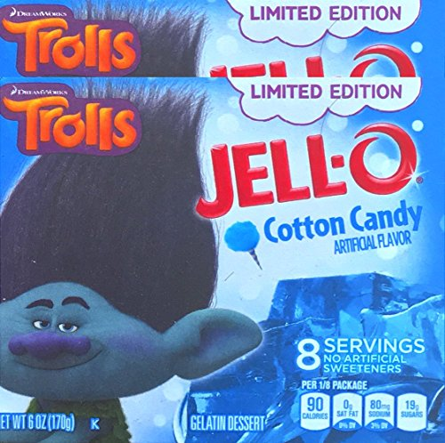 Jell-O Trolls Limited Edition Cotton Candy Gelatin