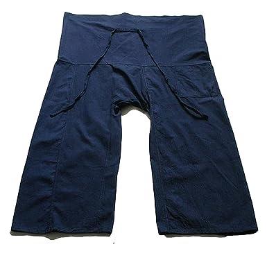 Amazon.com: Yoga Pants Thai Pescador pantalones azul marino ...