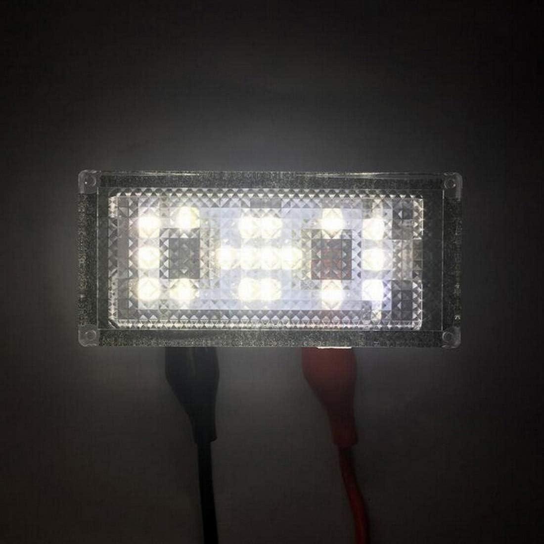 MuChangZi 2 Unids Sin Error 18 LED Luz de Placa de Matr/ícula para B//MW E66 E65 7-Series 735i 2006-2008 Blanca 12V Canbus Luz de Placa de Matr/ícula