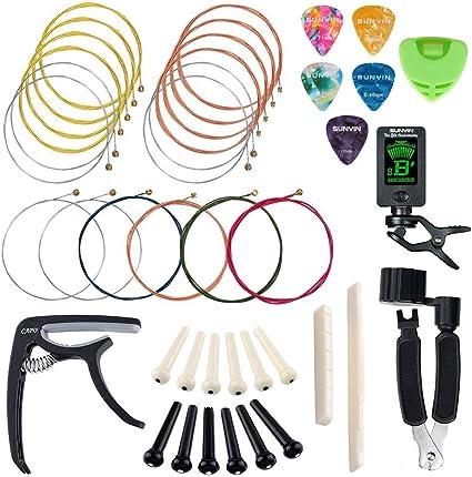 Kit de herramientas para guitarra acústica con cuerda, afinador ...