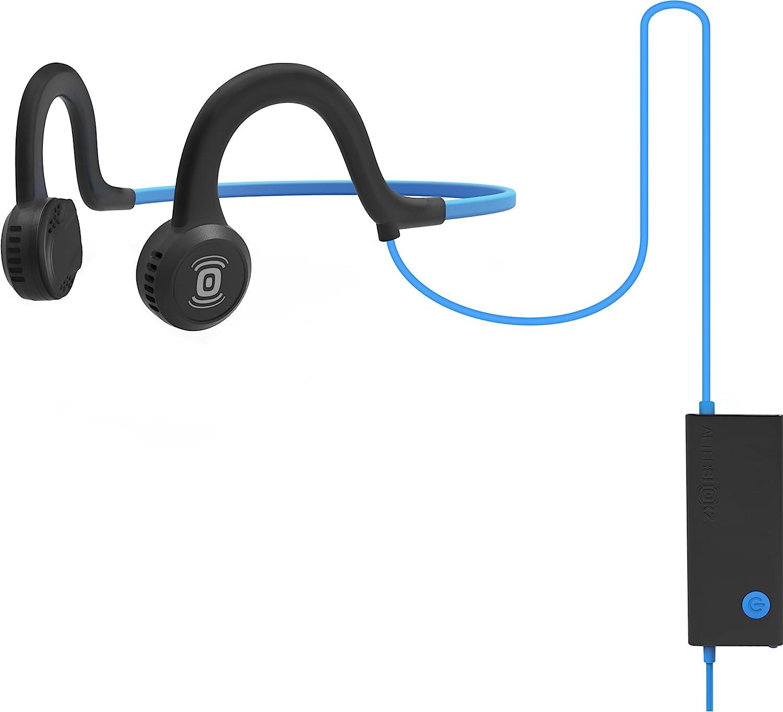 Aftershokz Sportz Titanium Wired Bone Conduction Headphones Bloototh Kopfh/örer Wired Blau