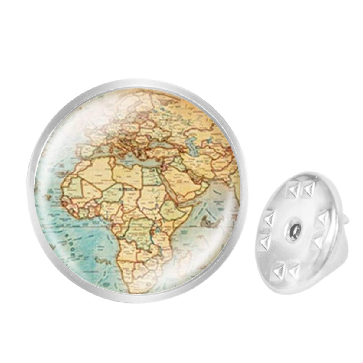 Custom Lapel Pin Brooches Planet Earths World Map Art Banquet Badge Pins Trendy Accessory Jacket T-Shirt Bag Hat Shoe