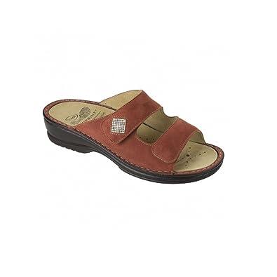 In Donna F26611 Camoscio Atria Rosso Pantofola Scholl Ciabatta 1053 EIqR7Iw
