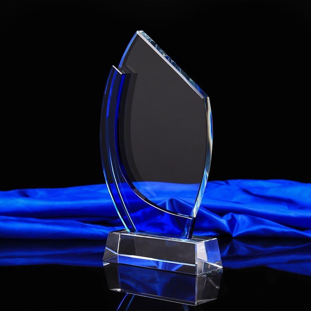 Weiduoliクリスタルメダル卒業式総会賞ブルーエッジクリスタル工芸品クリスタルトロフィー   B07LDK3GVQ