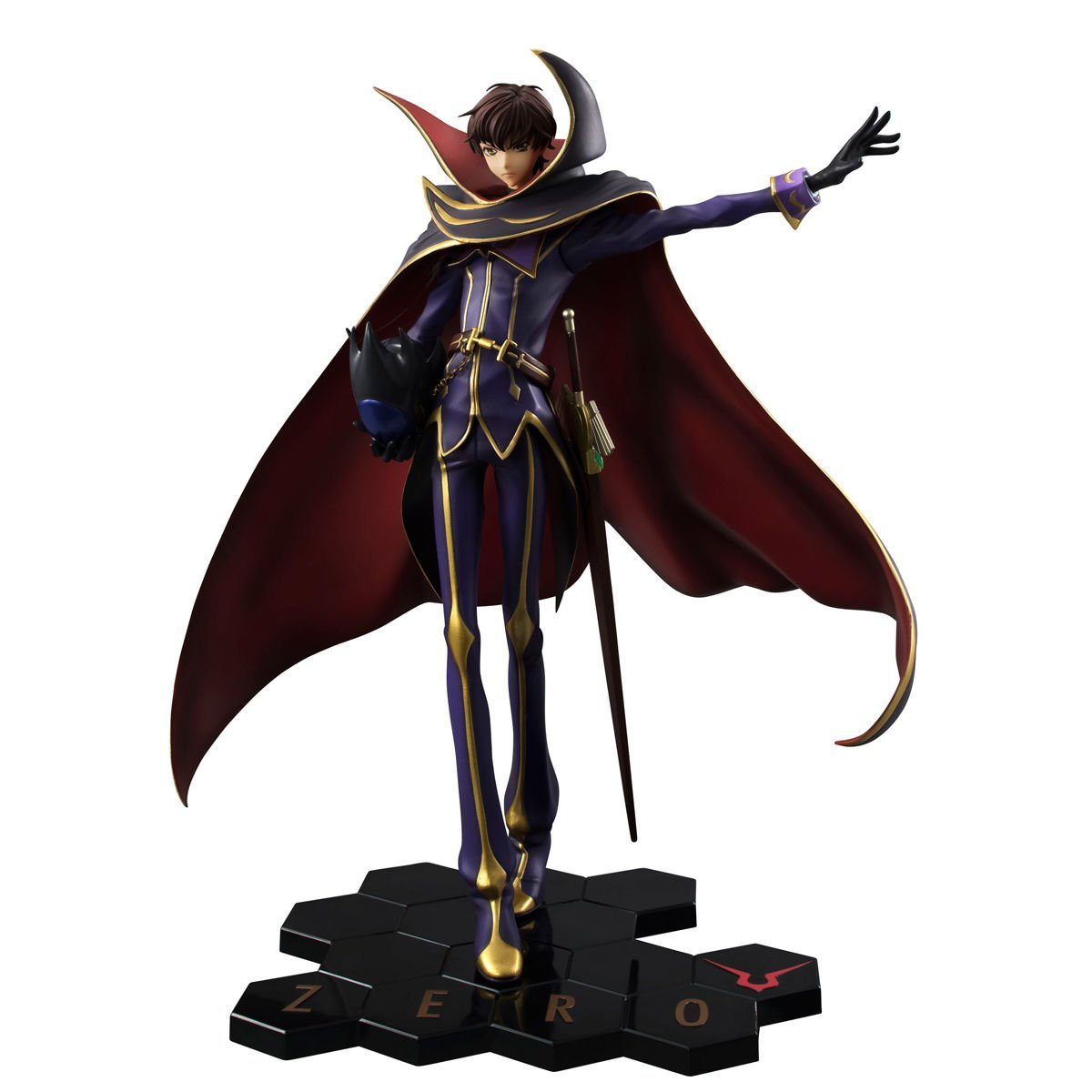 Megahouse Code Geass Zero Lelouch Rebellion R2 Zero Geass (10. Jahrestag Version) Gem PVC Figur 2b0922