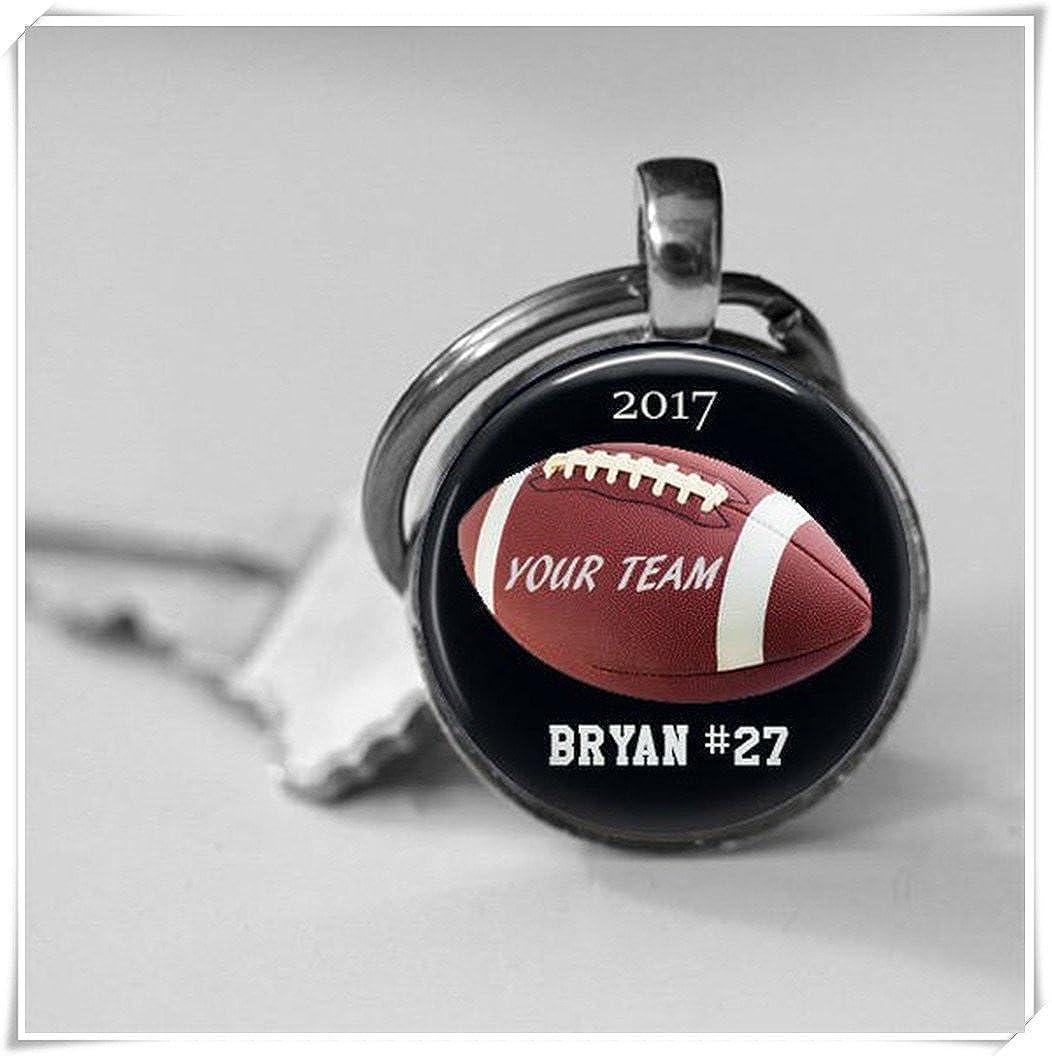 Dandelion Personalized Football Trophy, Football Key Chain, Award Gift,Football Team Sports High School wish dandelion