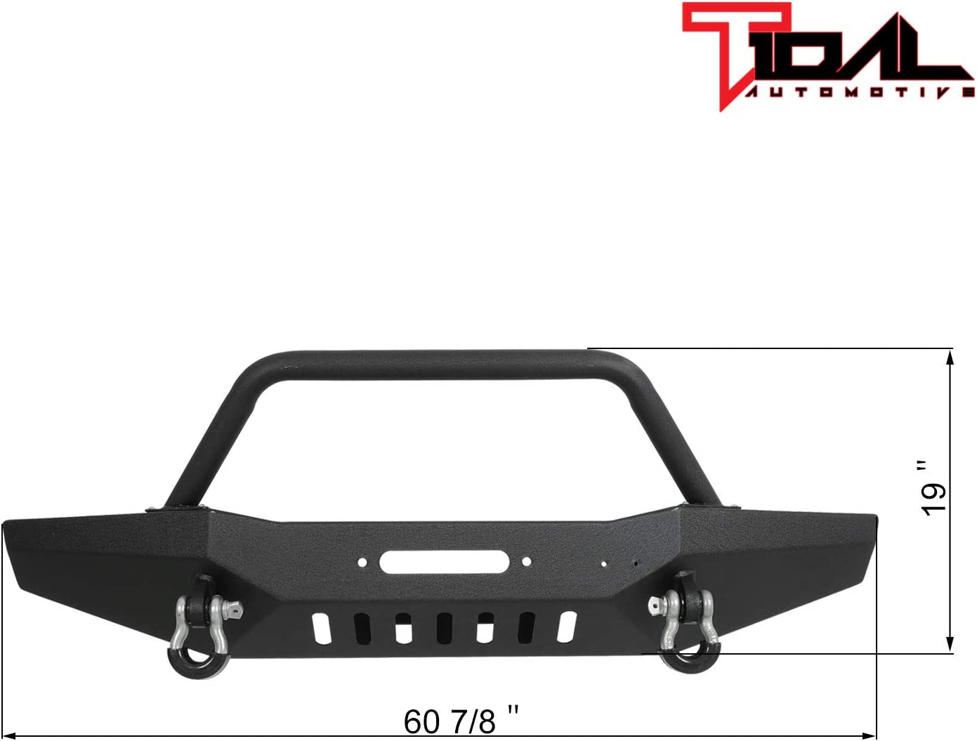 Tidal Off-road Front Bumper with Winch Plate