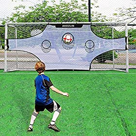 AKOZLIN Soccer Field Nets/Target Sheets (Attach to Your Goal for Accuracy Training)