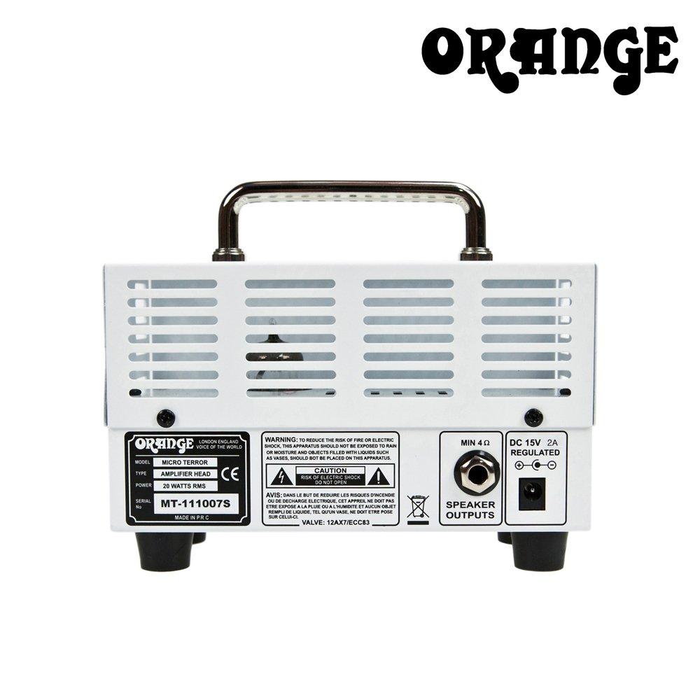 Orange MT20 Micro Terror 20-watt Amp Head with 10ft Cable and Pick Sampler