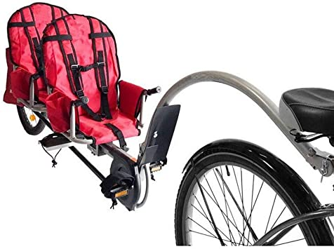 Qnlly Remolque de Bicicleta Twins con Conector, Remolque Infantil ...