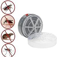 LEDMOMO Solar Mosquito Killer Zapper Insecto eléctrico Bug UV Light Light Fly Trap Control de plagas Repelente para habitación de bebé al aire libre Home kitchen 2 PCS