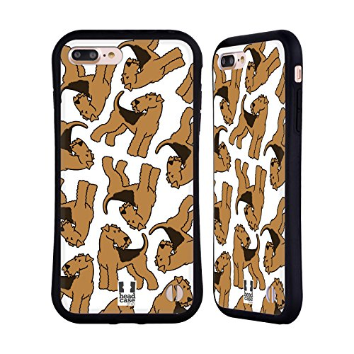 (Head Case Designs Welsh Terrier Dog Breed Patterns 12 Hybrid Case Compatible for iPhone 7 Plus/iPhone 8 Plus)