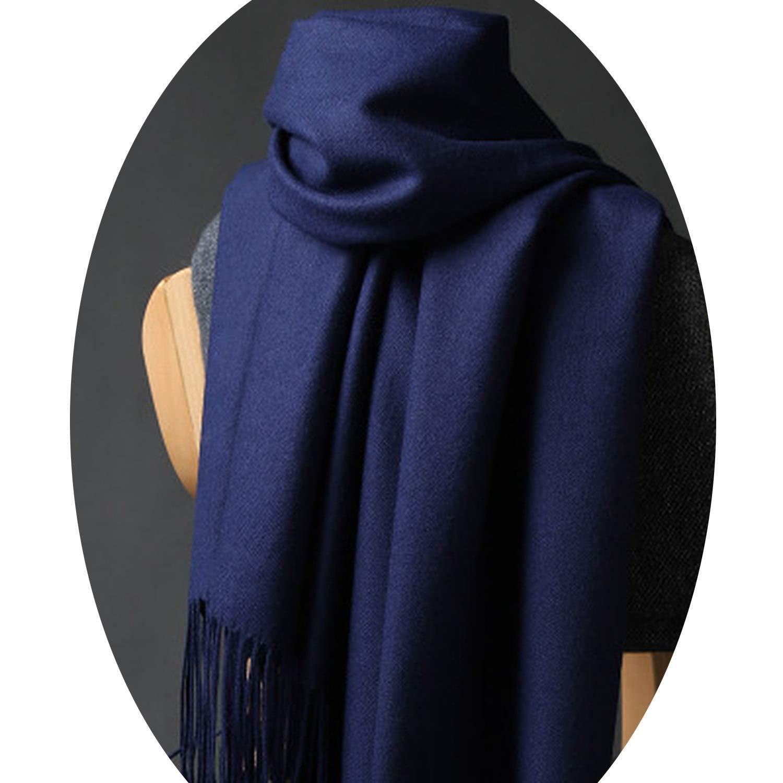 NBOBA Practical Women Thicken Warm Scarves Wool Cashmere Scarf Man Wrap Pashmina Tassels