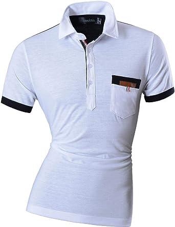 Battercake Camisa De Polo para Hombre Corta Manga Solapa Casual ...