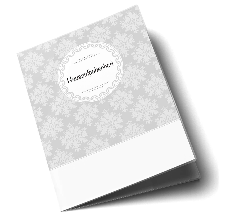 Hausaufgabenheft H/ülle Black /& White Schutzh/ülle Geschenkidee Ohne Personalisierung, ohne Motiv