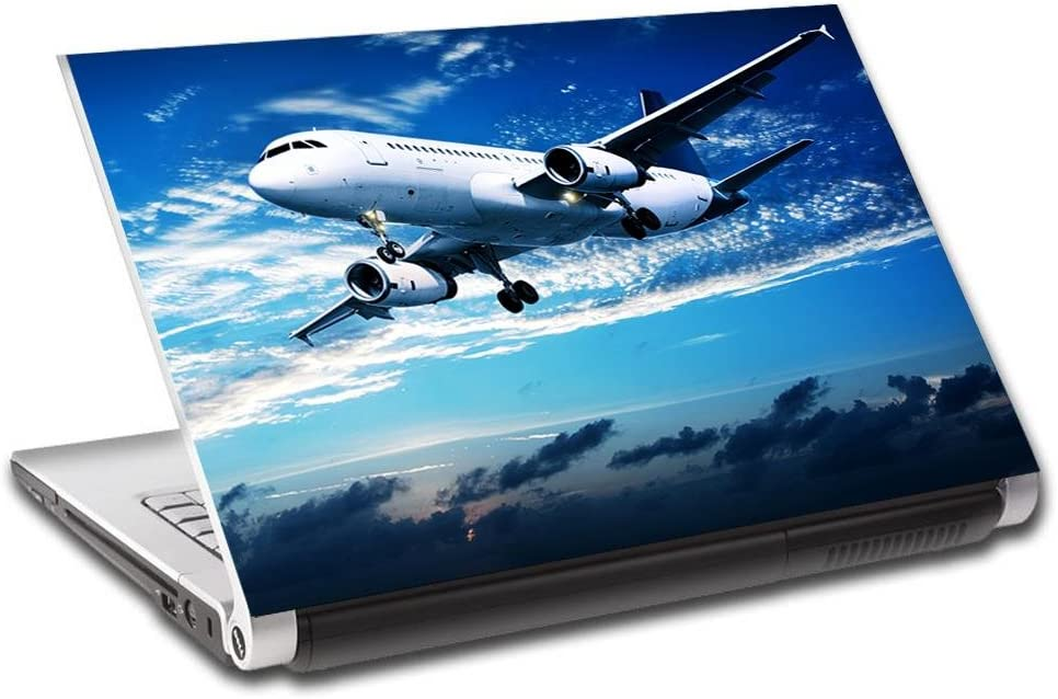 Airplane Aircraft Personalized LAPTOP Skin Decal Vinyl Sticker ANY NAME L671, 10