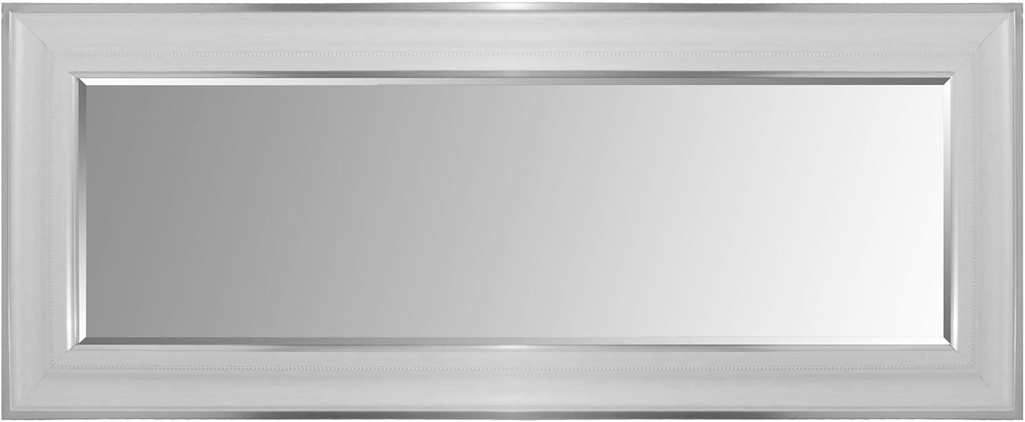 Multistore 2002 Wandspiegel mit Facettenschliff und Verzierungen 170x70cm Silberwei/ß H/ängespiegel Flurspiegel Ganzk/örperspiegel Spiegel