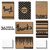 Best Man Thank You Cards - 36 Blank Kraft Thank You Cards - Bulk Review
