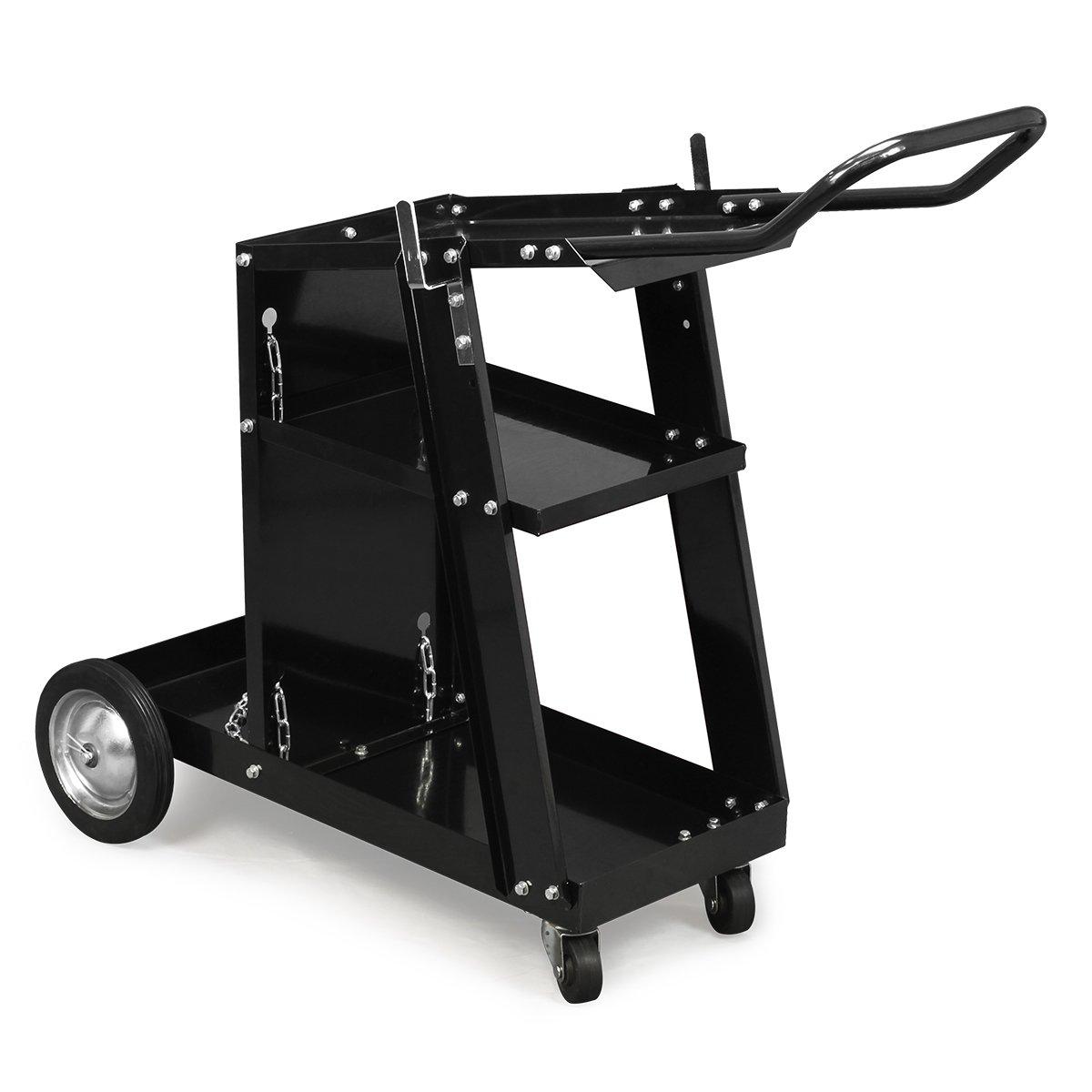 XtremepowerUS HD Welding Cart Universal MIG MAG ARC TIG Machine Welders Home Garage Shop + Safety Chain