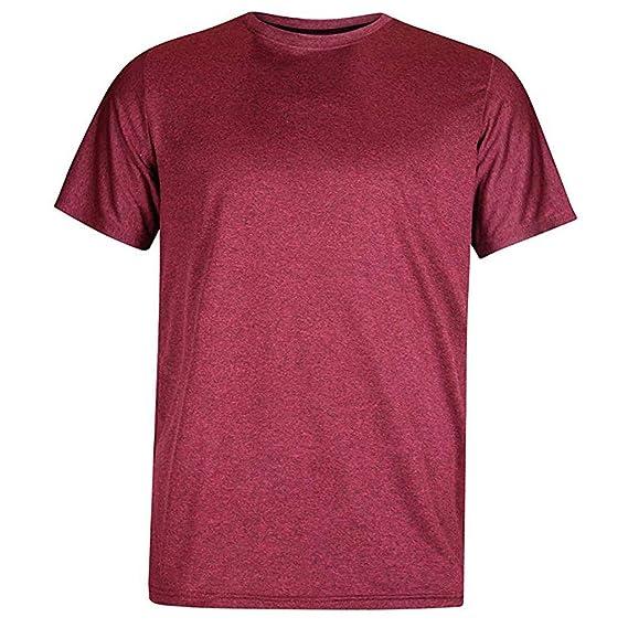 Amazon.com: YKARITIANNA Fashion Solid Color Short Sleeve Mens Turn-Down O-Neck Casual Shirt Top