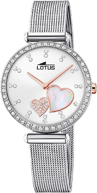 Lotus Reloj Analógico para Mujer de Cuarzo con Correa en Acero Inoxidable 18616/1
