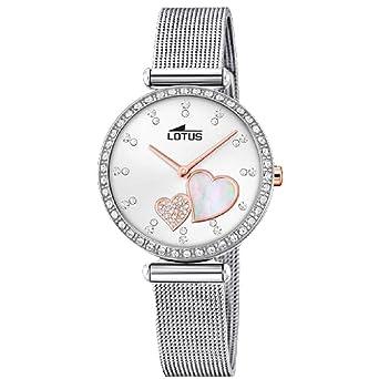 Lotus Reloj Analógico para Mujer de Cuarzo con Correa en Acero Inoxidable 18616/1: Amazon.es: Relojes