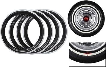 "Brand New Old Style 16/"" White Wall Portawall Tire insert Trim set 4 pcs Fast shi"