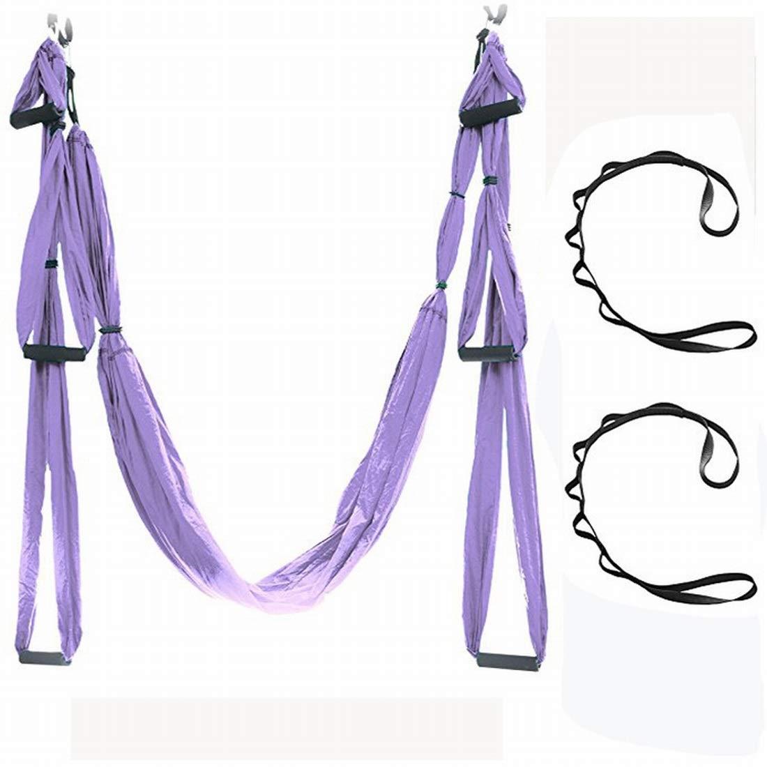 Funytine Hamac de Yoga aérien de gravité Hamac de Tissu de Parachute Lit d'air intérieur de Studio de Yoga de Haute qualité (Couleur   1)