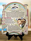 Remembrance Plaque Pet Memorial With Rainbow Bridge Poem And Picture Frame