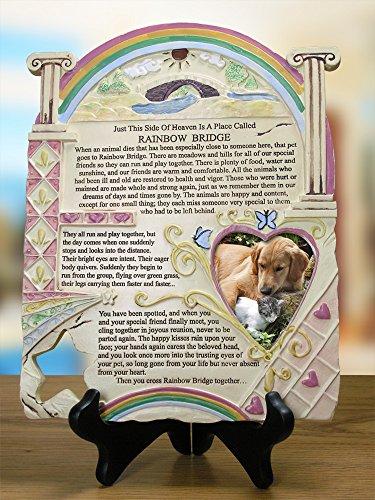 Remembrance Plaque Pet Memorial With Rainbow Bridge Poem And