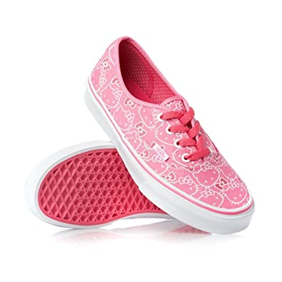 d77b852e69fc45 Vans Authentic Hello Kitty VN-0QERL8T Pink  White Shoes Size Mens 9  Womens