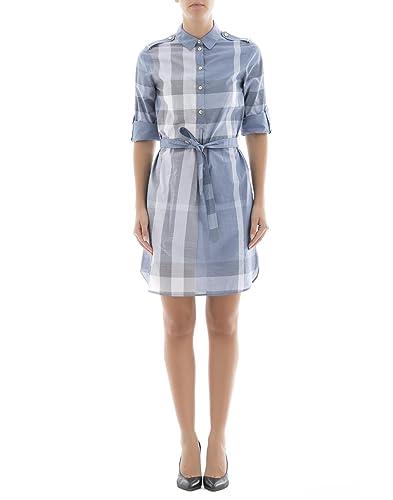 Burberry Vestito Donna 4055182 Cotone Azzurro